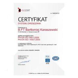 certyfikat zarządzania
